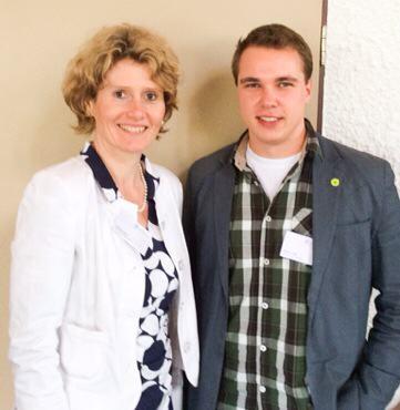 Eveline Lemke und Robert Kolle auf dem Youthvoice-Campus
