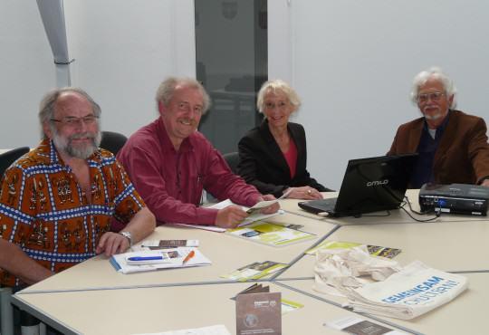 Ingo Binnewerg (von links) mit Frank Bliss, Annette Turmann und Rüdiger Finger