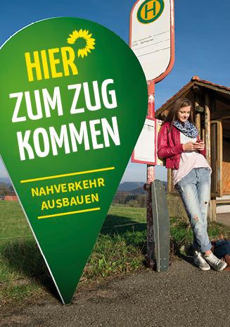 Plakat hier zum Zug kommen