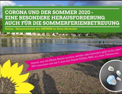 Ideenwerkstatt Corona und der Sommer 2020