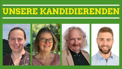 (v.l.n.r.): Stefani Jürries (Wahlkreis 13), Birgit Stupp (Wahlkreis 14), Wolfgang Schlagwein und Tim Schäfer