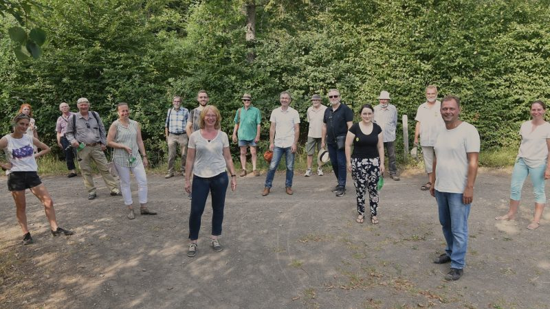 2020-08-10 GRÜNEN-Mitglieder beim Rundgang um das Rodder Maar