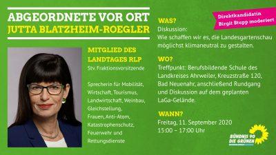 Die Tourismuspolitische Sprecherin der Grünen Landtagsfraktion Jutta Blatzheim-Roegler MdL zu Gast in Bad Neuenahr