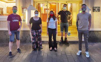 GRÜNE Jugend v.l.n.r.: Tim Schäfer, Laura Stenz, Sarah Rössel, Dennis Hoffmann, Lucas Weiler