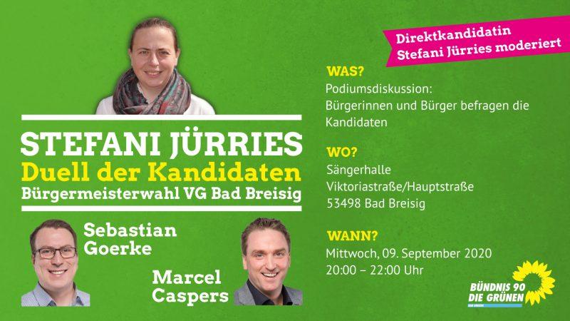 Duell der Kandidaten für das Amt der Bürgermeisters der VG Bad Breisig