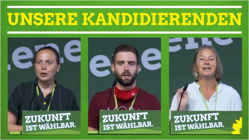 Auf der Landesliste für die Landtagswahl 2021 sind Stefani Jürries (Platz 25), Tim Schäfer (Platz 32) und Birgit Stupp (Platz 35).