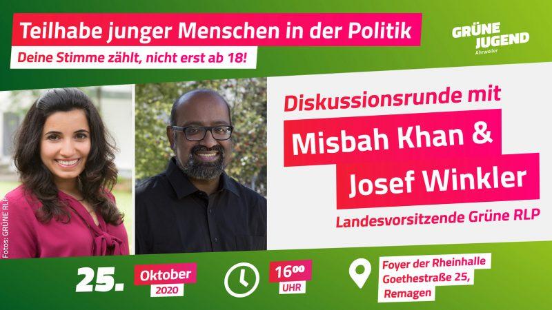 Sharepic Besuch Misbah Khan und Josef Winkler