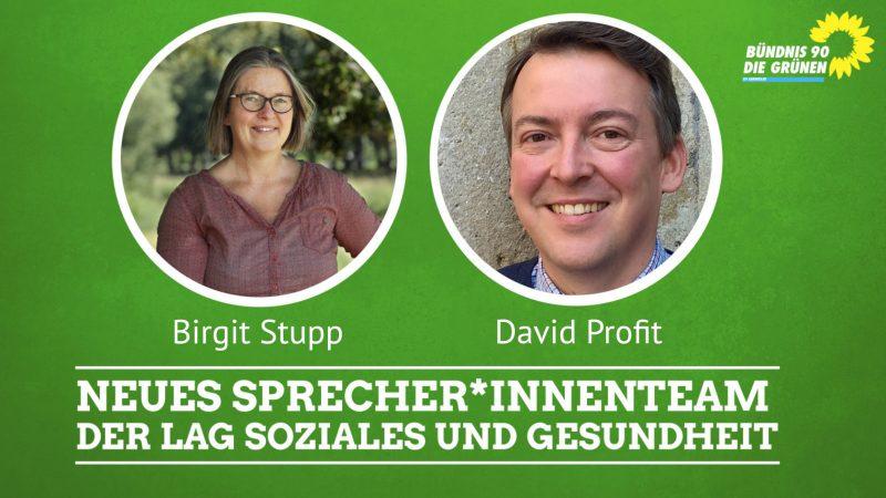Birgit Stupp und David Profit sind Sprecherteam der LAG Soziales und Gesundheit