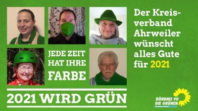 Neujahrsgruß 2021 der GRÜNEN im KV Ahrweiler