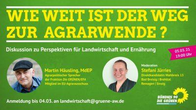 Ankündigung Diskussion zur Agrarwende