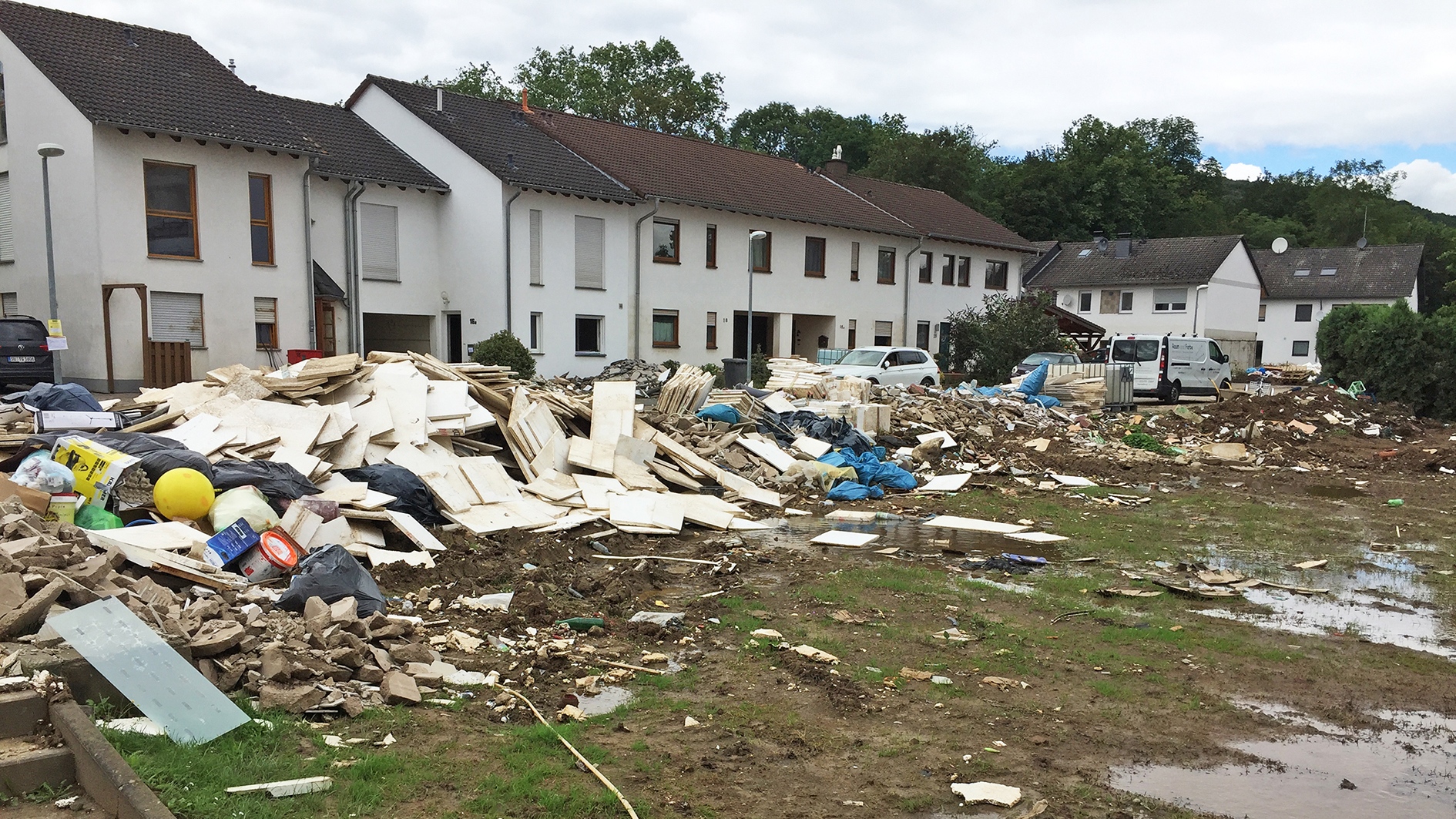 Flutgeschädigte Wohnhäuser in Sinzig